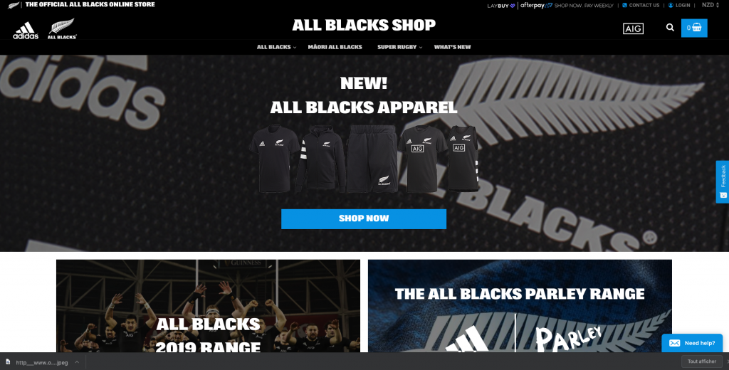 Illustration site All Black Shop